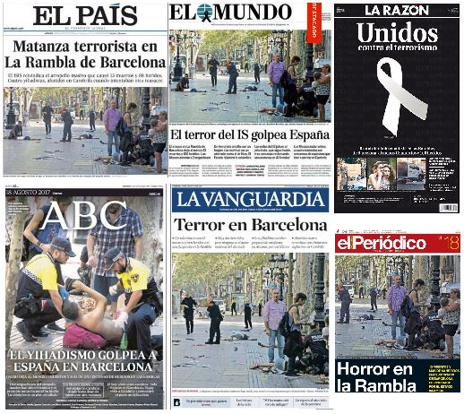 front_pages_Spanish_newspapers