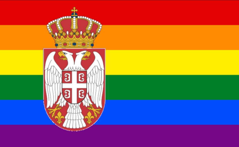 serbian flag rainbow