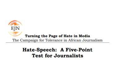 Handbook: Hate Speech – A Five Point Test For Journalists
