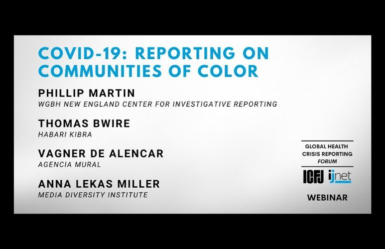 ICFJ Webinar: Covering COVID-19 in Communities of Color
